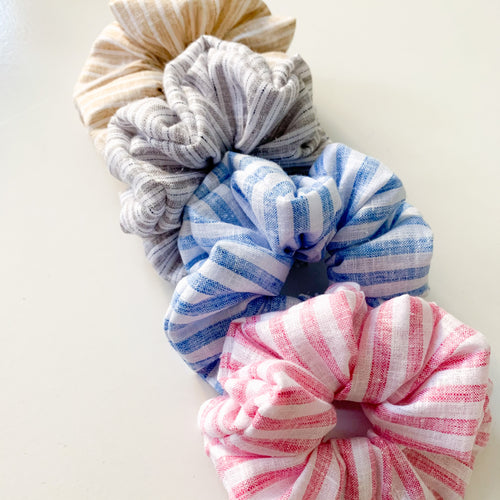 Linen Feel Scrunchies