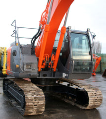 HITACHI ZX225US-3 23.5 TON EXCAVATOR FIRE SUPPRESSION, HAND RAILS,