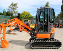 HITACHI ZX22U-2 2.53 TON , SWAMPER TRACKS ,FULL CAB ,LOW 1827.0 HOURS