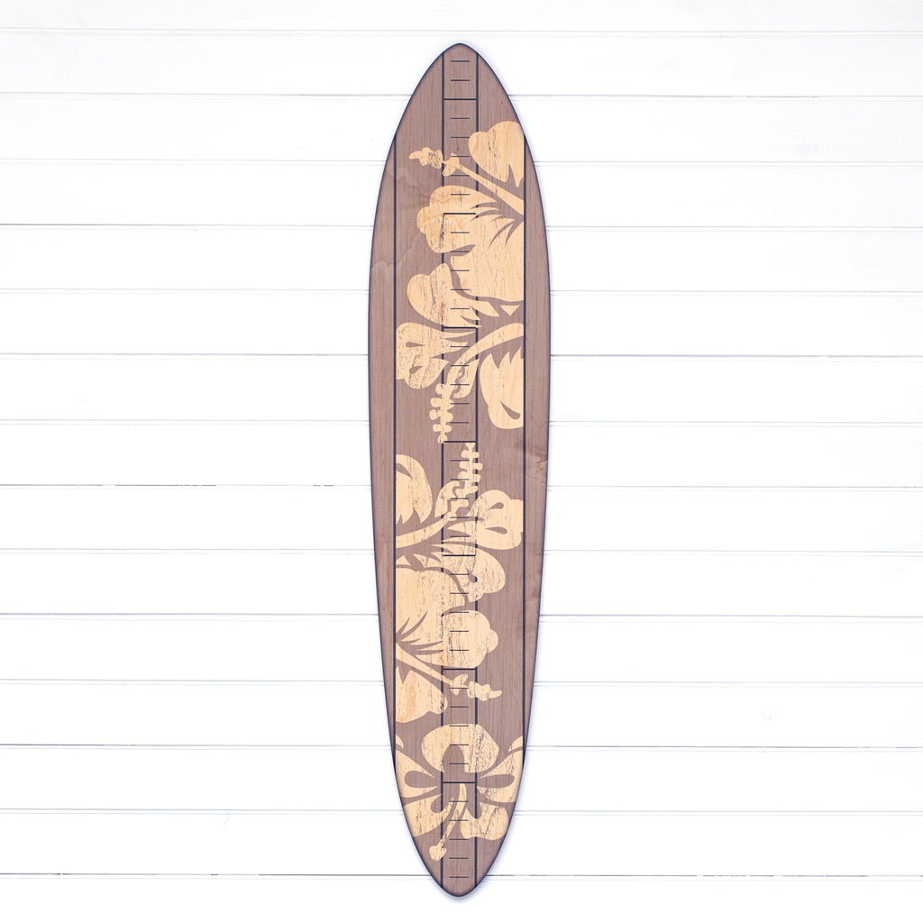 The Vintage Primaries Collection - Surfboard Growth Charts Headwaters Studio Gray Hibiscus No