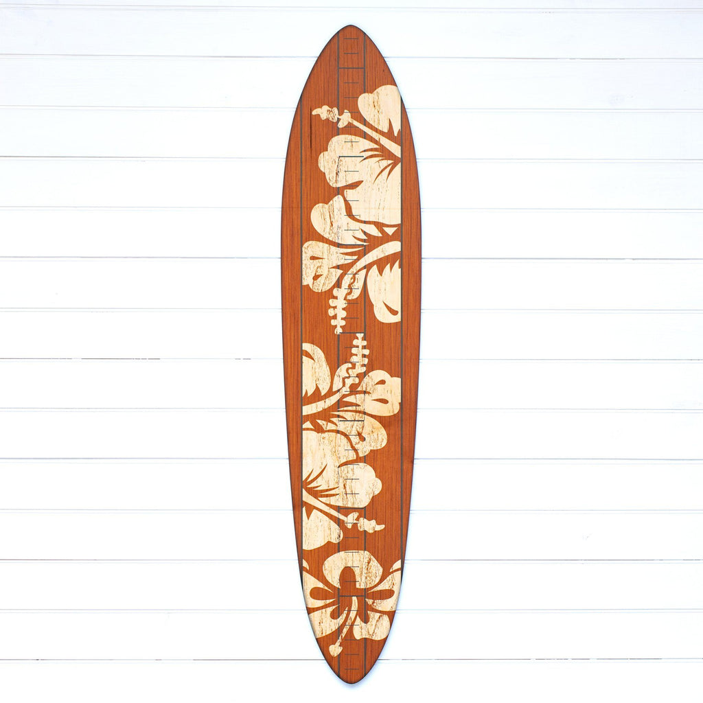 The Vintage Primaries Collection - Surfboard Growth Charts Headwaters Studio Brown Hibiscus No