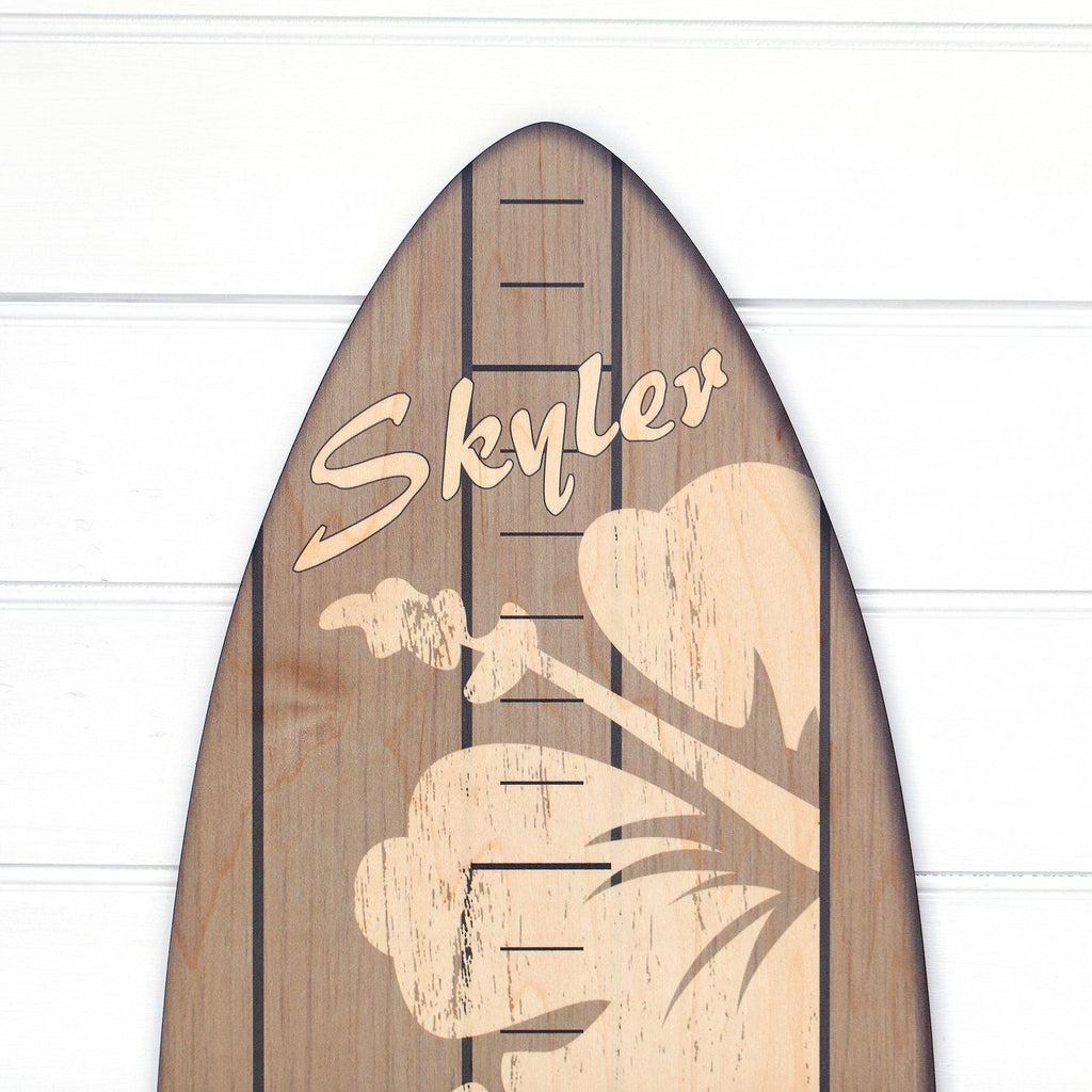 The Vintage Primaries Collection - Surfboard Growth Charts Headwaters Studio Gray Hibiscus Yes