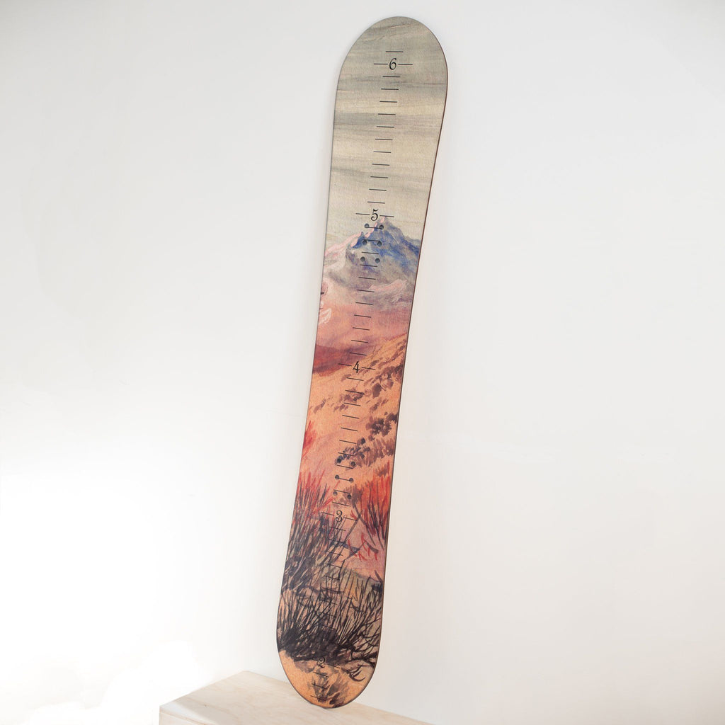Snowboard Growth Chart for Kids