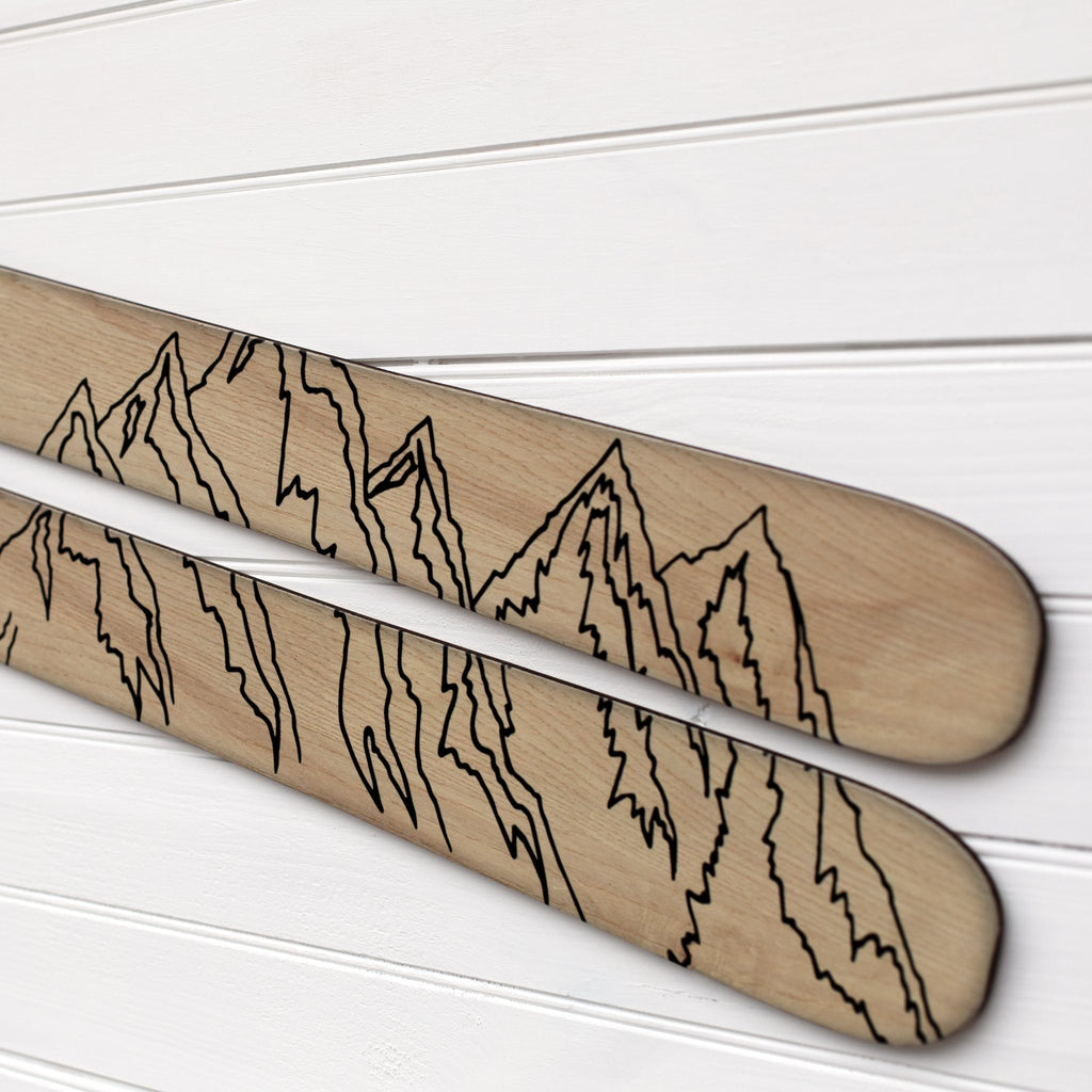 Mountain Family Established Sign - Personalized Wooden Ski Ski Headwaters Studio