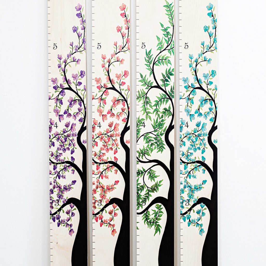 Tree of Life Wooden Ruler Growth Charts
