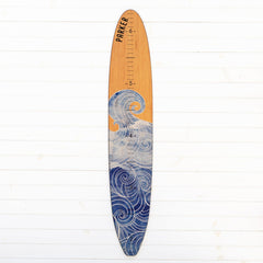Our most popular wave print longboard growth chart is sure to make a splash in your home!