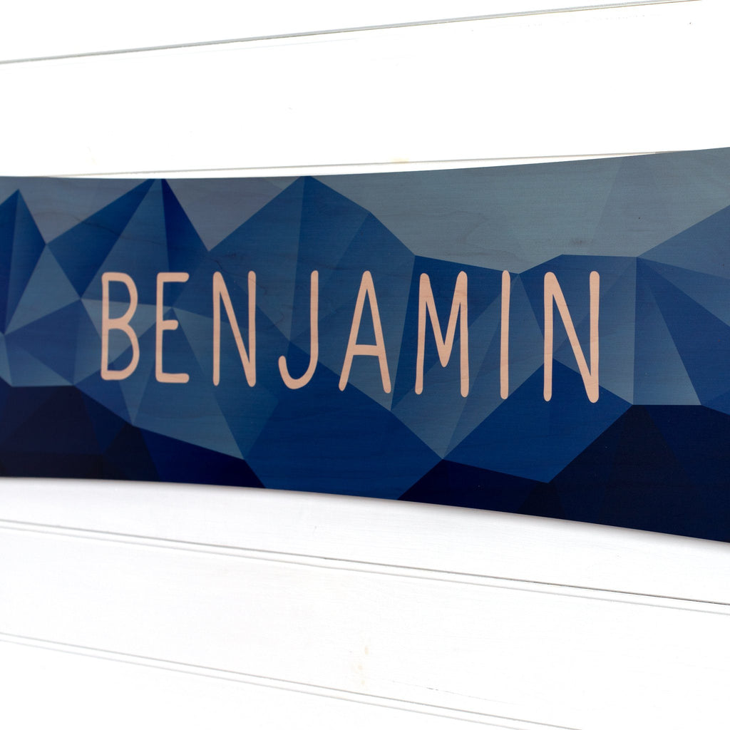 Personalized Snowboard Sign Headwaters Studio