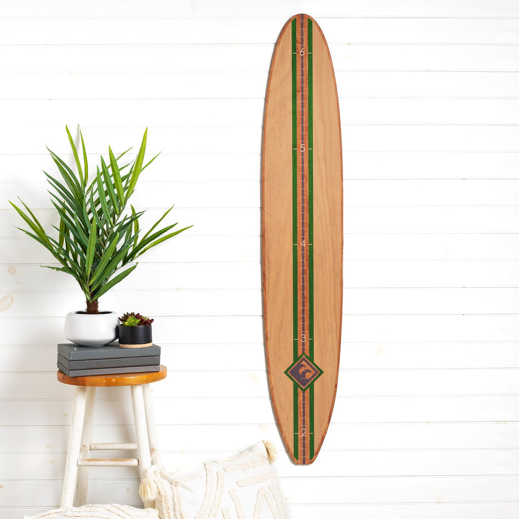 Classic Longboard Surfboard Headwaters Studio decor growth chart sign beach hawaii surfer surf height