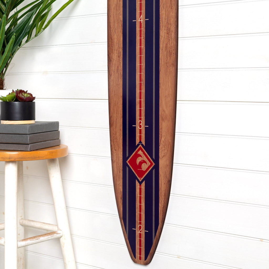 Classic Navy Stripe Longboard Surfboard Headwaters Studio
