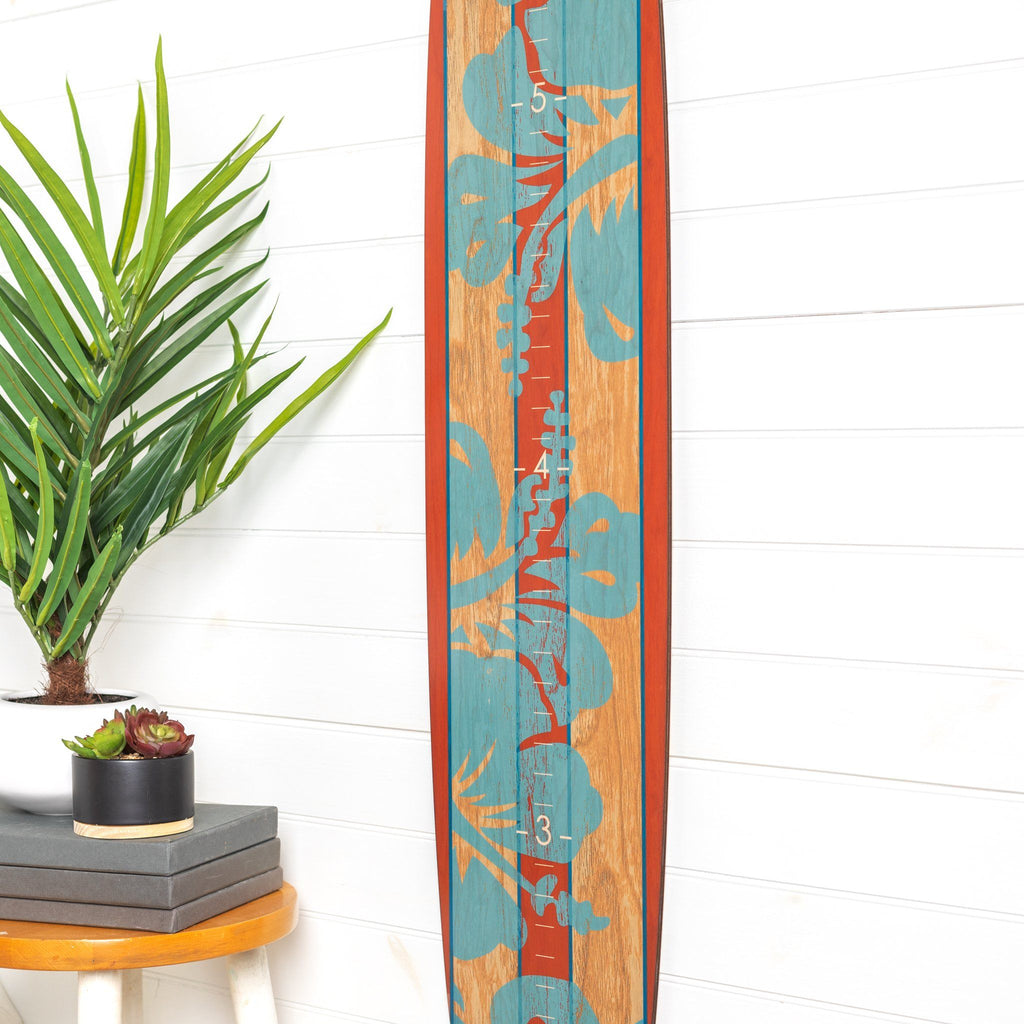 The Island Collection - Orange Blue Hibiscus Headwaters Studio
