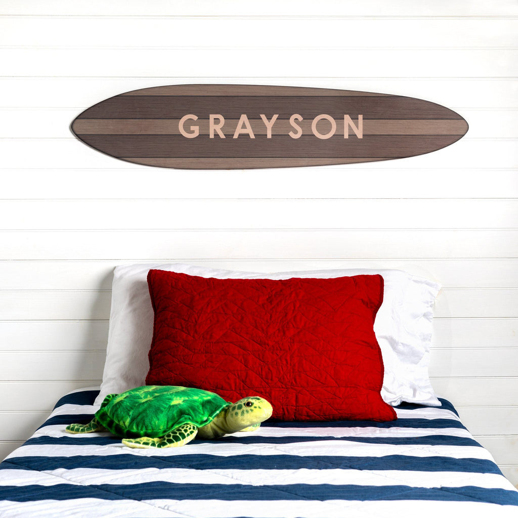 Personalized Vintage Surfboard Headwaters Studio