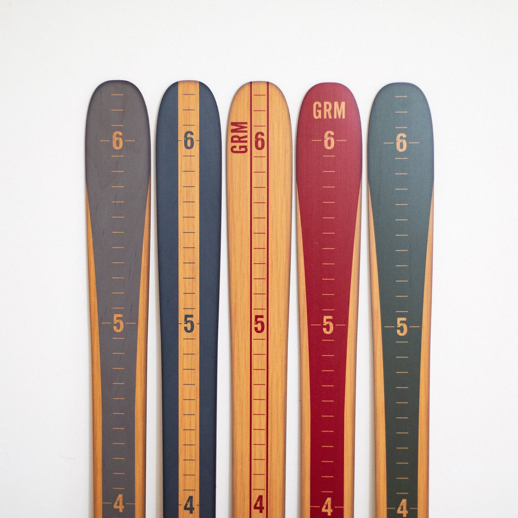 Modern Vintage Ski Growth Chart Ski Headwaters Studio