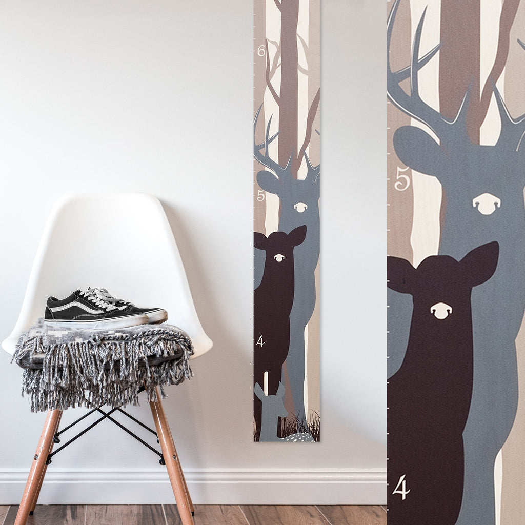 Deer Family Wood Growth Chart Growth Chart Headwaters Studio