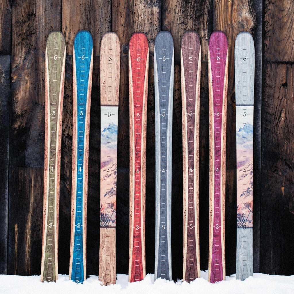 Traditional Wooden Ski Growth Chart