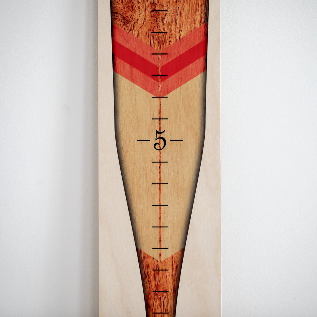 Oar Growth Chart - Wooden Height Chart Growth Chart Headwaters Studio