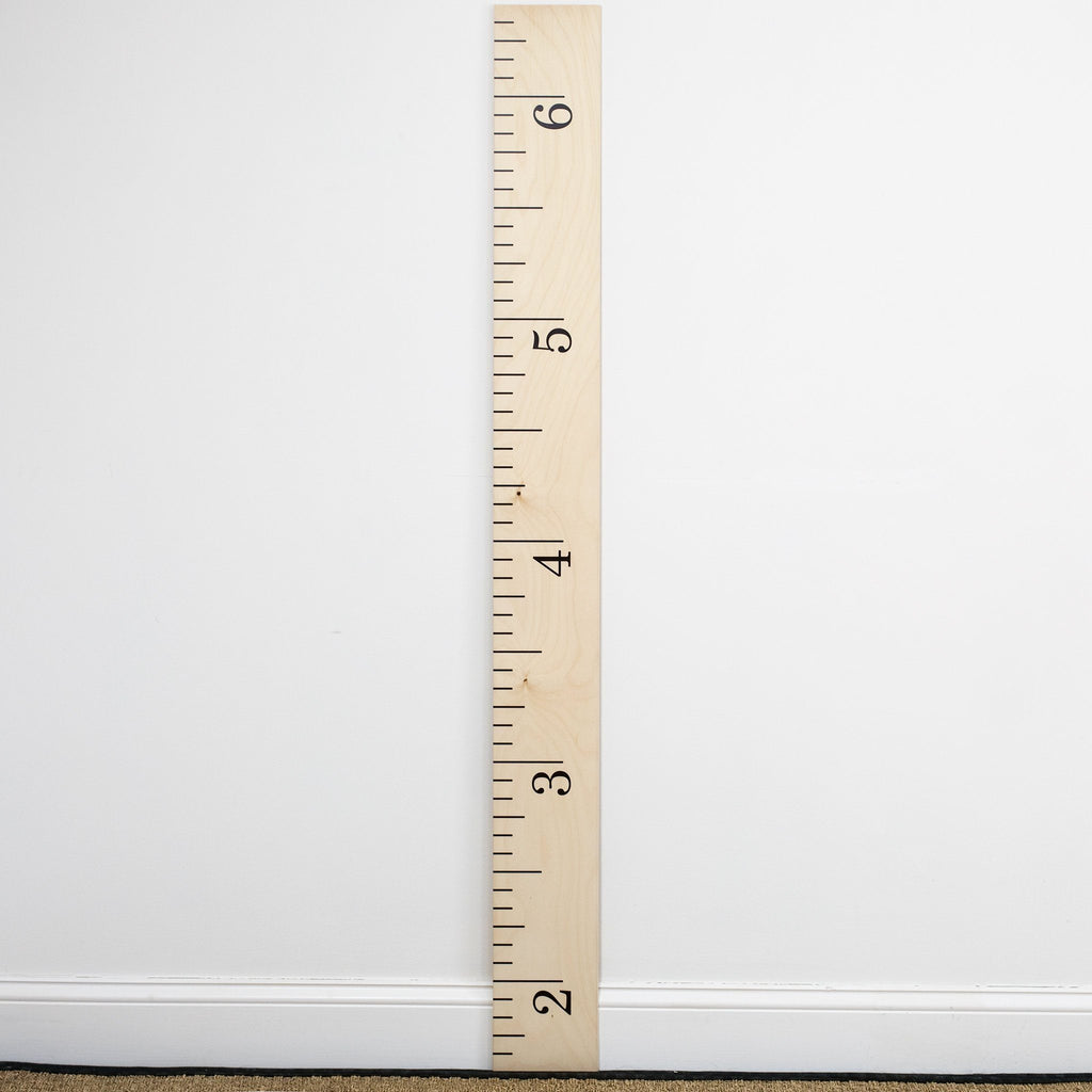 Simple Schoolhouse Ruler Growth Chart Headwaters Studio