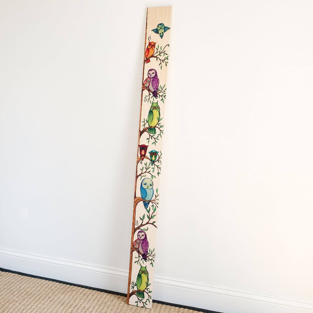 Owl Growth Chart for Kids, Girls & Boys Growth Chart Headwaters Studio