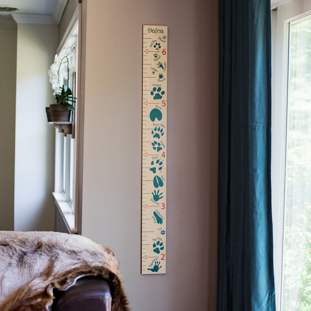 natural nursery animal growth chart