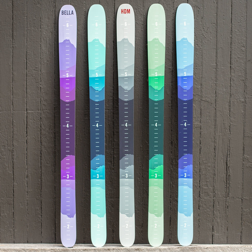 Ombre Mountain Ski Height Chart