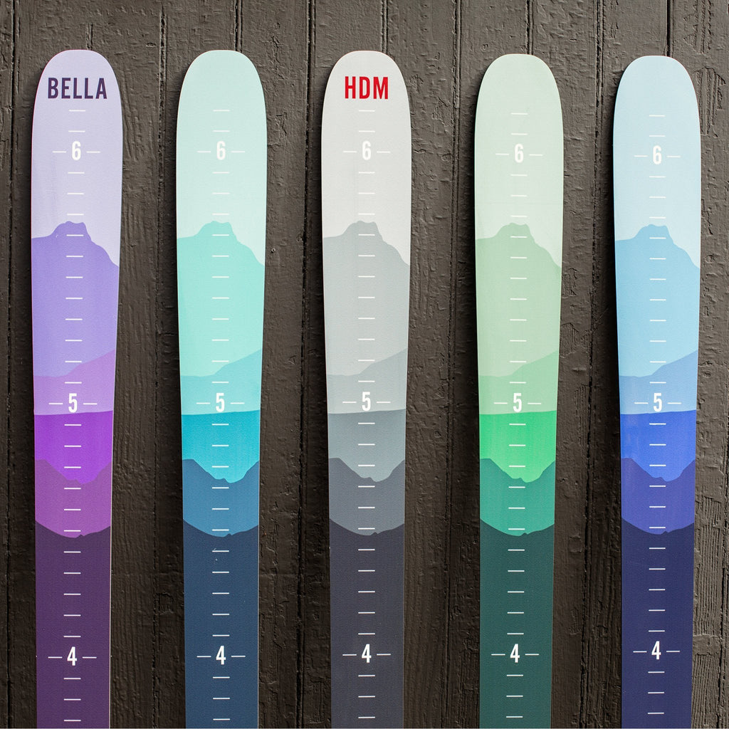 Ombre Mountain Ski Height Chart Ski Headwaters Studio