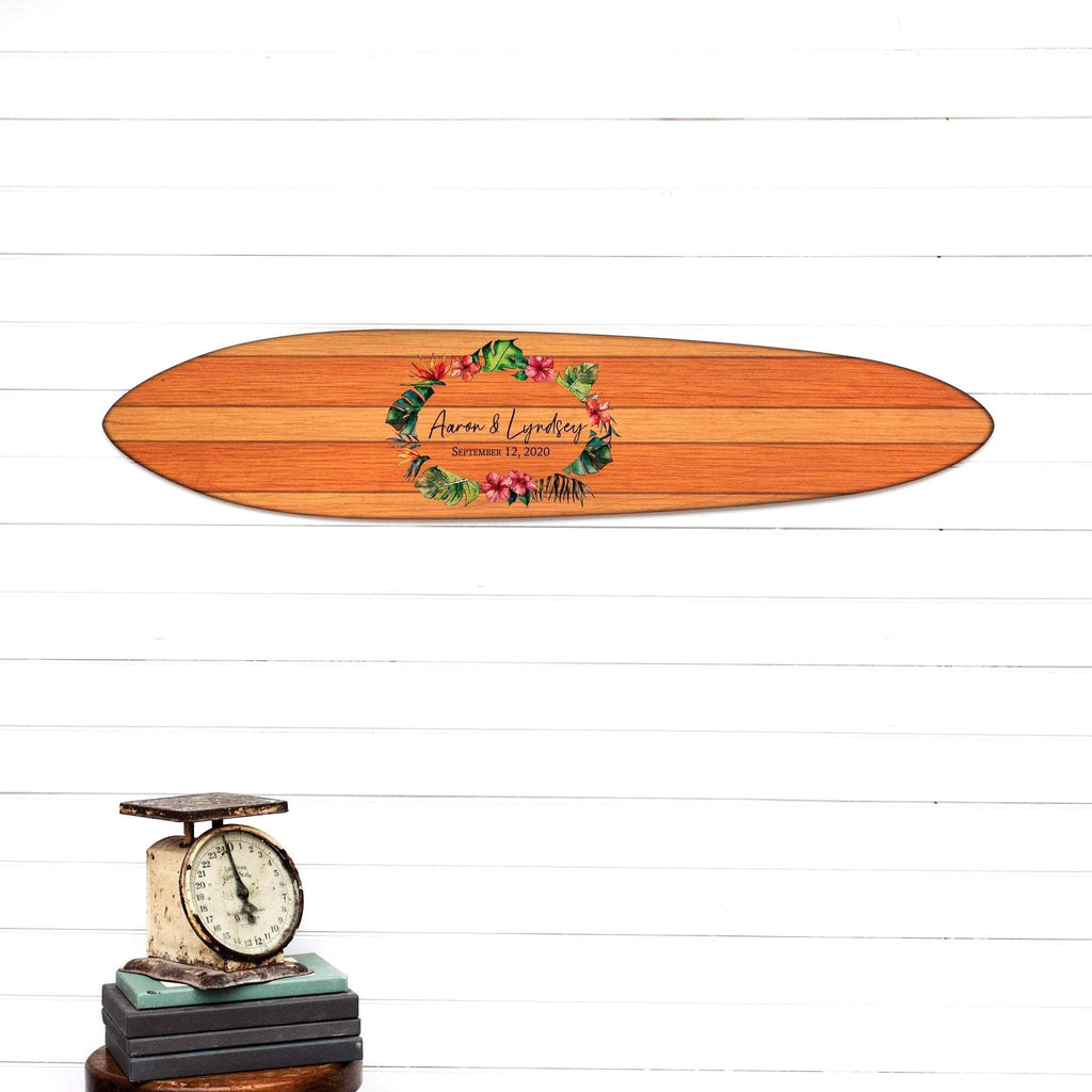 Alternative Wedding Guest Book - Custom Signature Surfboard Wedding HeadwatersStudio