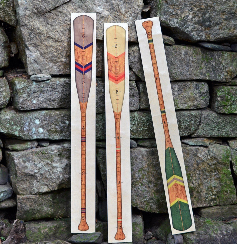 Oar Growth Chart - Wooden Height Chart