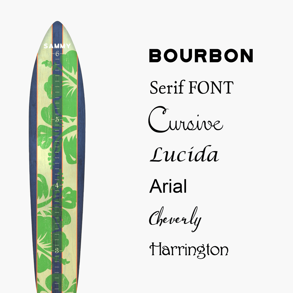 The Island Collection - Surfboard Growth Charts