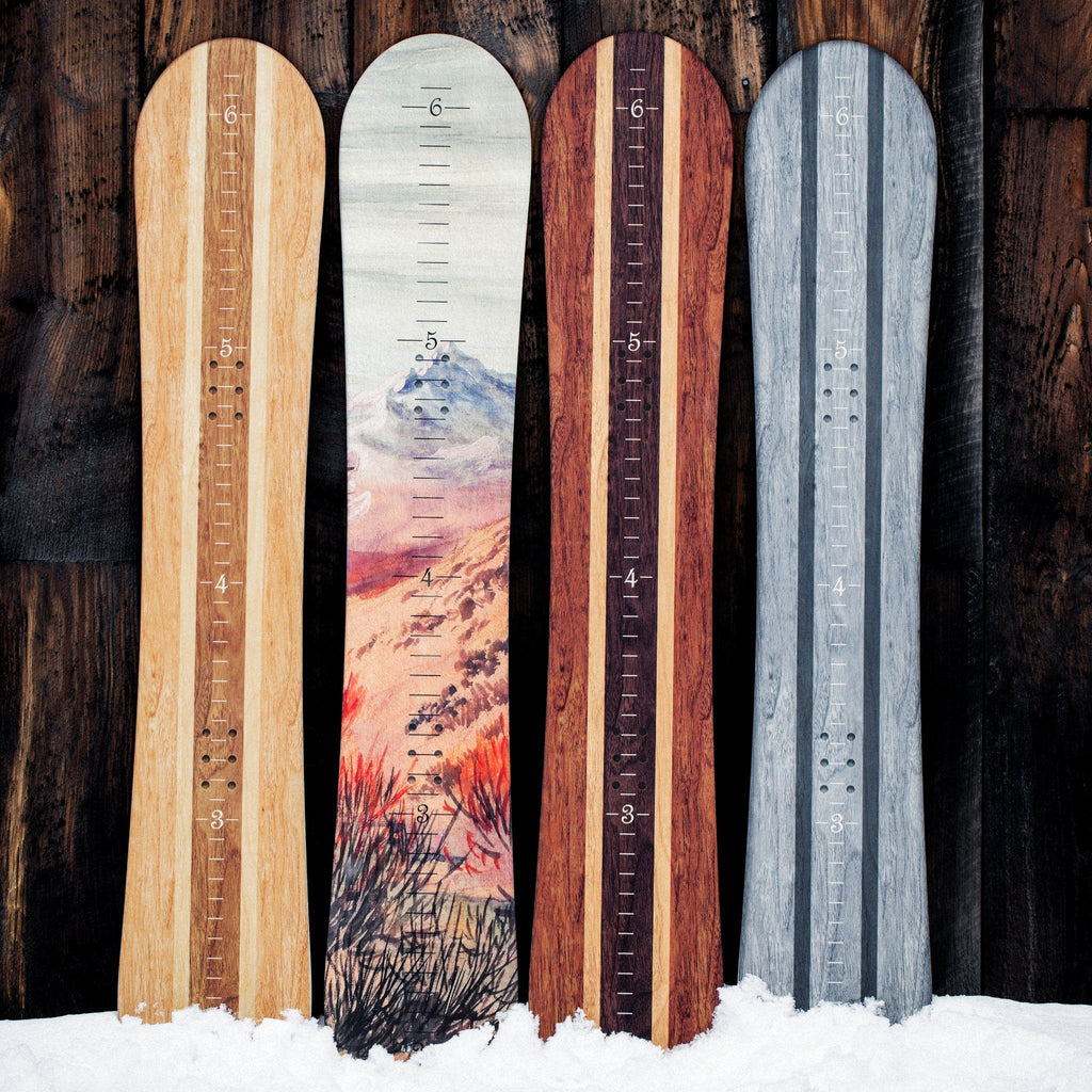 Snowboard Growth Chart for Kids Headwaters Studio