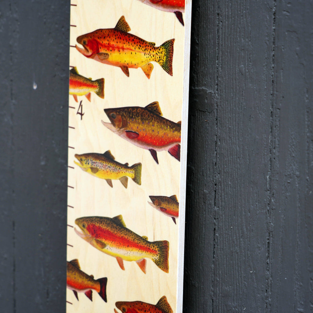 Trout on Wood Growth Chart Growth Chart Headwaters Studio