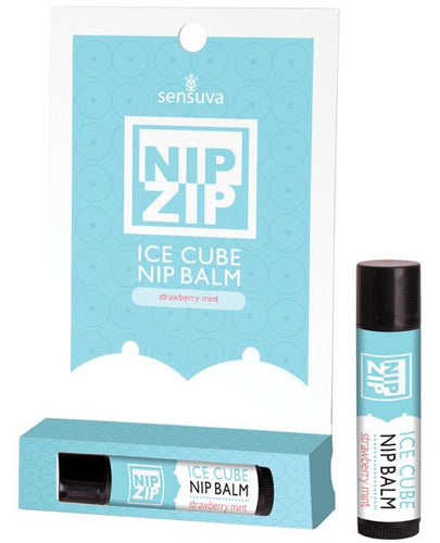 Sensuva Nip Ip Ice Cube Nip Balm - Strawberry Mint - Omega Pleasure