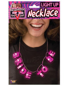 Bachelorette Outta Control Light Up Bride To Be Necklace - Omega Pleasure