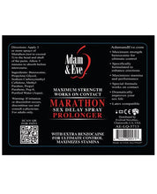 Adam & Eve Marathon Sex Delay Spray Maximum Strength - 2oz - Omega Pleasure