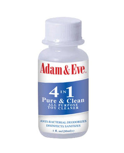 Adam & Eve 4 In 1 Pure & Clean Misting Toy Cleaner - 1 Oz - Omega Pleasure