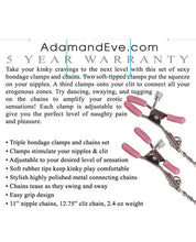 Adam & Eve Chain Me Up Kink Clamps - Omega Pleasure
