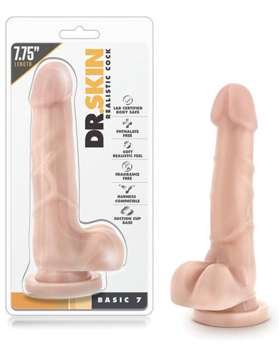 Blush Dr. Skin Basic 7 W-suction Cup - Omega Pleasure