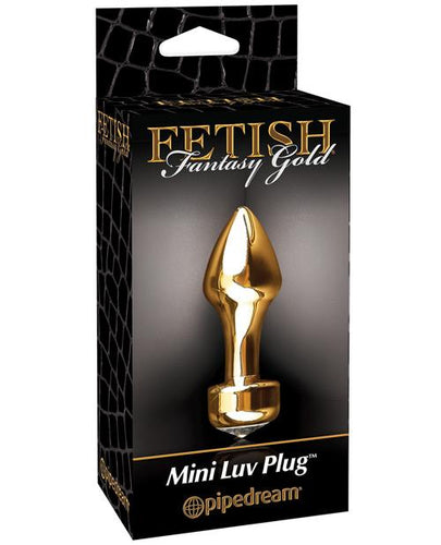 Fetish Fantasy Gold Mini Luv Plug - Gold - Omega Pleasure