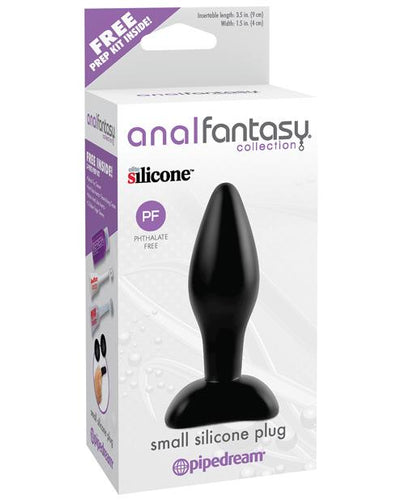 Anal Fantasy Collection Small Silicone Plug - Black - Omega Pleasure