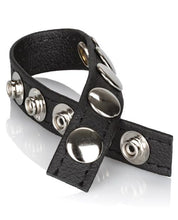 Adonis Leather Collection Ares 5 Snap Adjustable Strap - Omega Pleasure