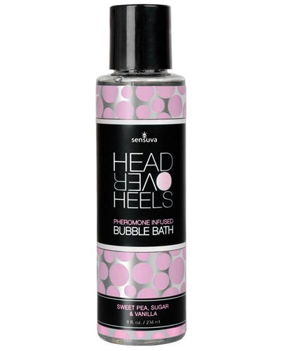 Sensuva Head Over Heels Bubble Bath - 8 Oz Vanilla-sugar-sweet Pea - Omega Pleasure