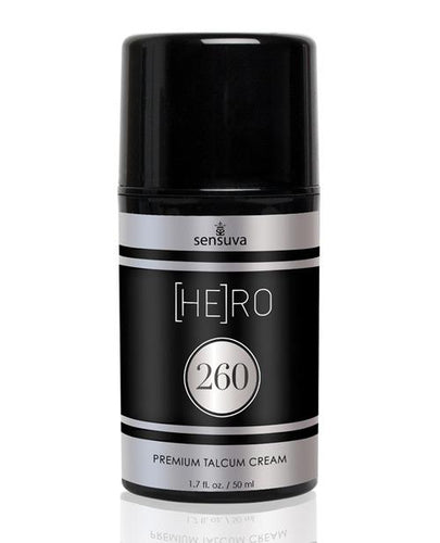 Sensuva Hero 260 Premium Talcum Cream For Him - 1.7 Oz - Omega Pleasure