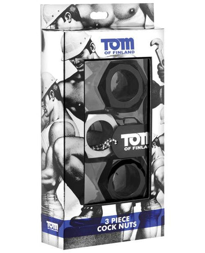 Tom Of Finland Hex Nut Cock Ring Set - Set Of 3 - Omega Pleasure