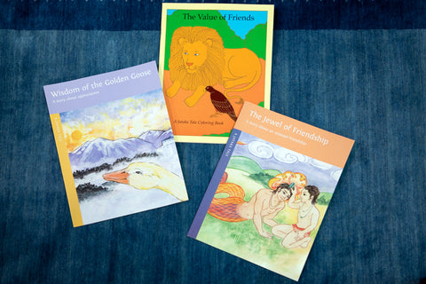 Two Jataka Tales with Coloring Book, Holiday Package - Dharma Publishing