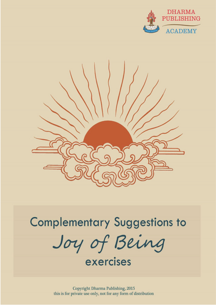 Joy of Being Workbook - Dharma Publishing