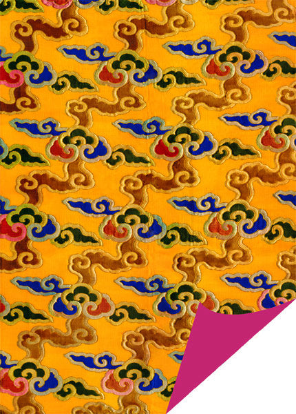 Brocade Clouds (Yellow) - Wrapping Paper - Dharma Publishing