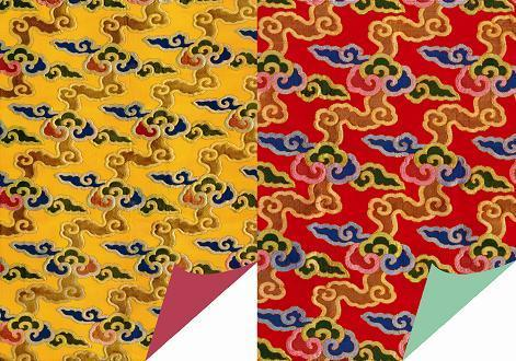 Brocade Clouds (Assorted) - Wrapping Paper - Dharma Publishing