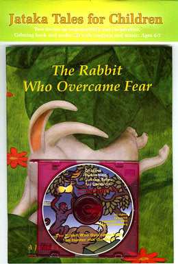 Jataka Tales CD & Coloring Book Set: The Rabbit Who Overcame Fear and The Hunter & the Quail - Dharma Publishing