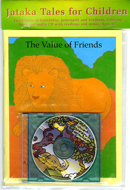 Jataka Tales CD & Coloring Book Set: Best of Friends and The Value of Friends - Dharma Publishing