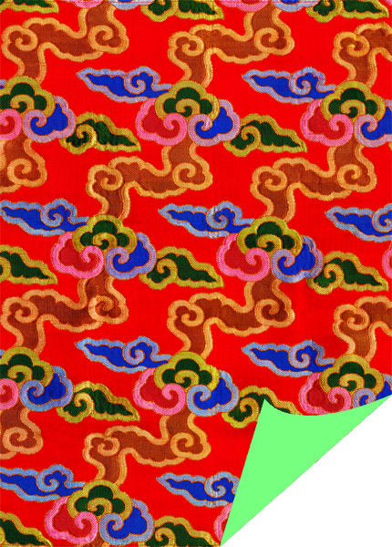 Brocade Clouds (Red) - Wrapping Paper - Dharma Publishing