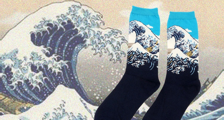 Calcetines Hokusai - White Gorilla Co