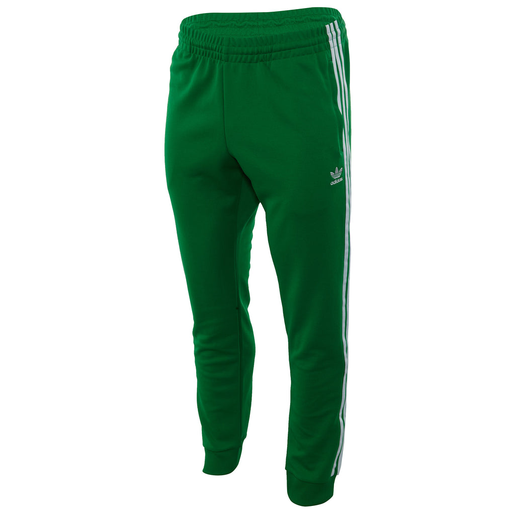 adidas superstar track pants green